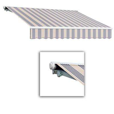 12 ft. Galveston Semi-Cassette Manual Retractable Awning (120 in. Projection) in Dusty Blue Multi