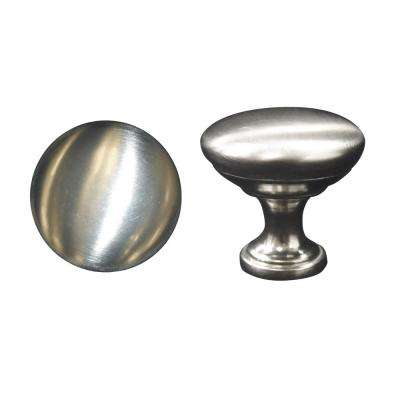 1.125x1.125x1 in. Standard Knob in Brushed Nickel