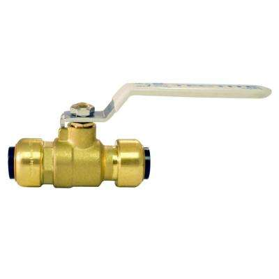 1/2 in. Brass Push-to-Connect Ball Valve