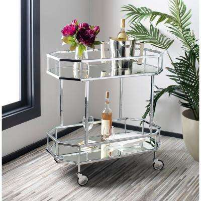 Silva 2-Tier Silver Bar Cart