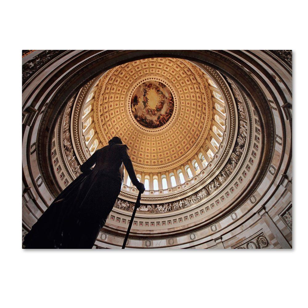 null 16 in. x 24 in. US Capitol Rotunda Canvas Art