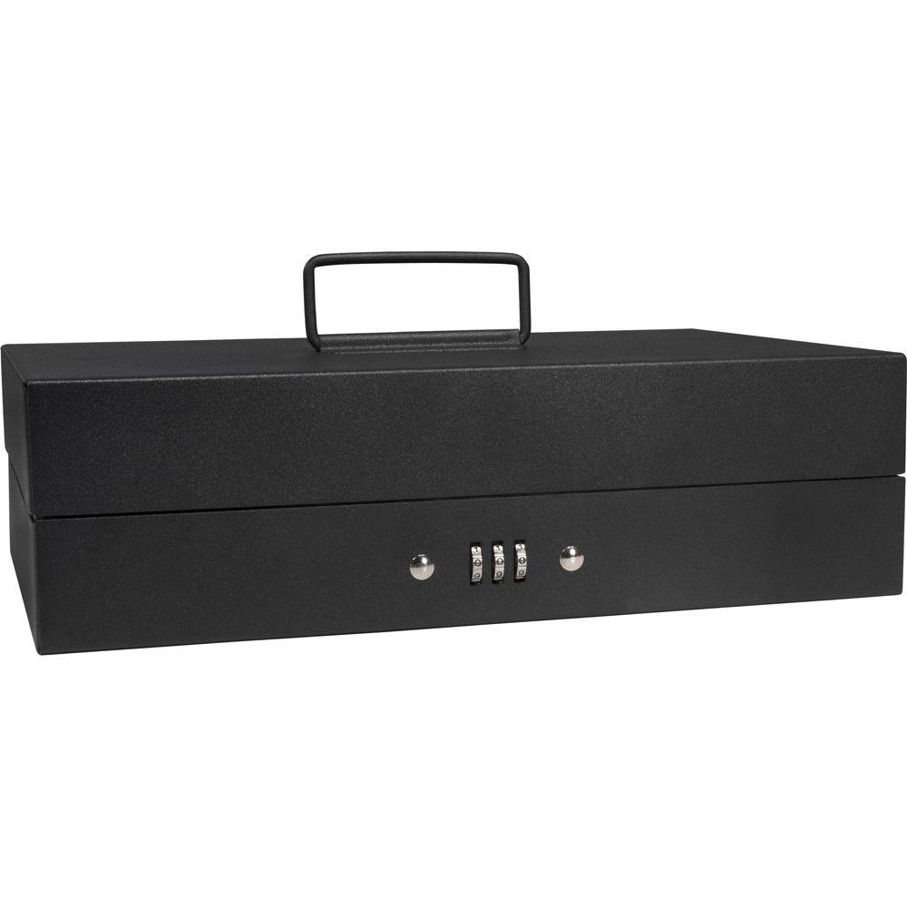 0.13 cu. ft. Steel Cash Box 4 Bill Holder and 6