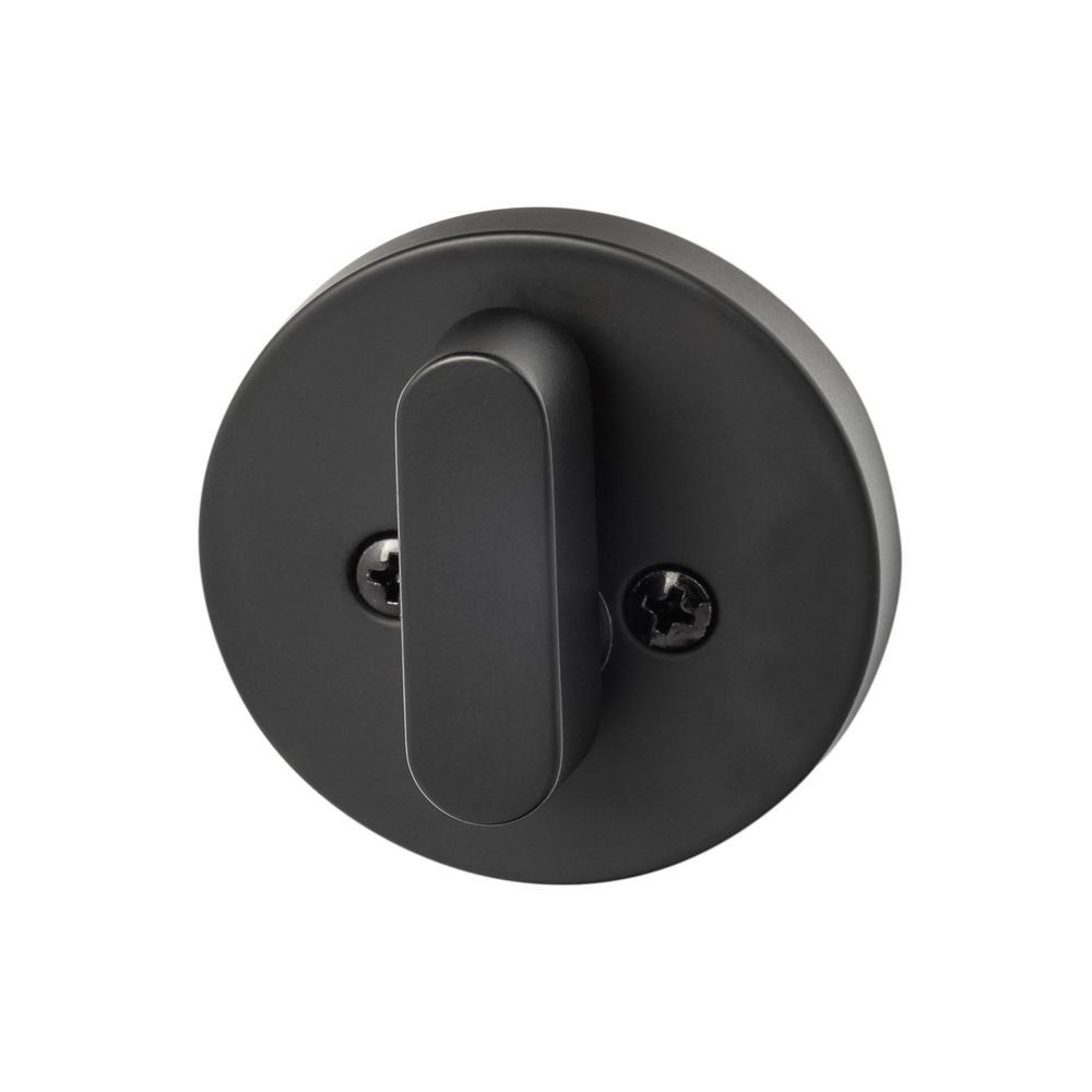 Modern Single-Cylinder Deadbolt, Flat Black