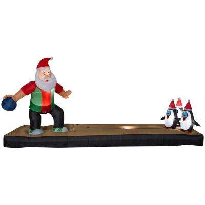 62 ft. Inflatable Bowling Santa