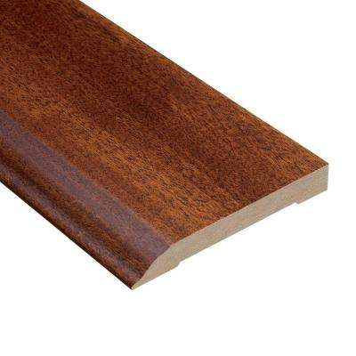 Mahogany Natural 1/2 in. Thick x 3-1/2 in. Wide x 94 in. Length Hardwood Wall Base Molding
