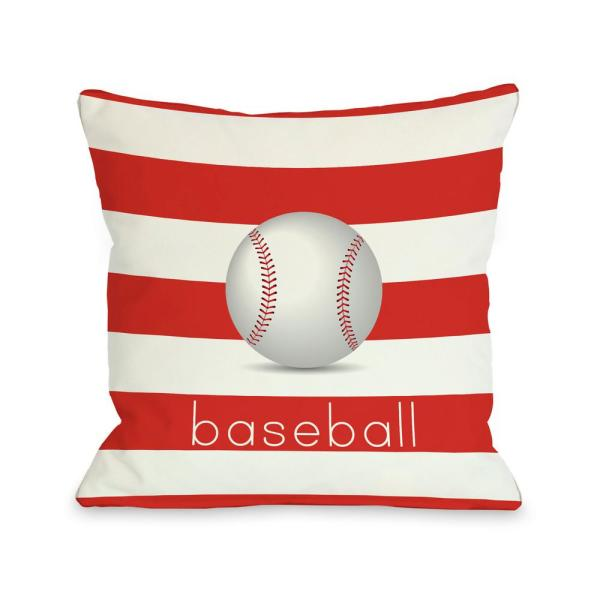 Baseball 16 in. x 16 in. Decorative Pillow 70420PL16