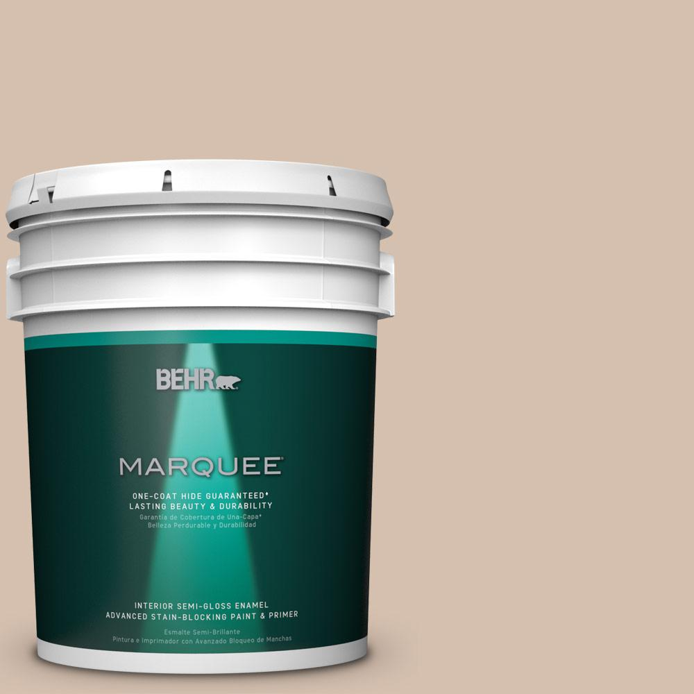 5 gal. #MQ2-36 Elusive Dawn One-Coat Hide Semi-Gloss Enamel Interior Paint