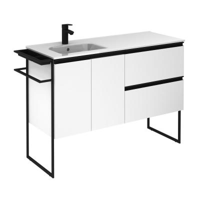 Structure 48 in. W x 18 in. D Vanity White with Ceramic Vanity Top in White