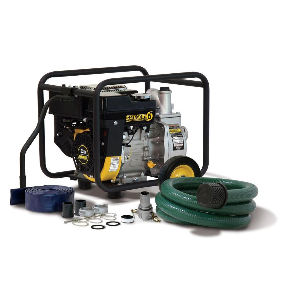 Champion Power Equipment 2 in. Semi-Trash and Water Transfer Pump with Hose Kit-DISCONTINUED