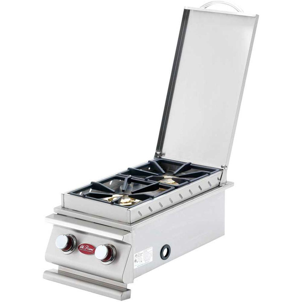 Deluxe Stainless Steel Built In Dual Fuel Gas Double Side Burner