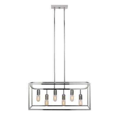 Lyon 6-Light Chrome Chandelier