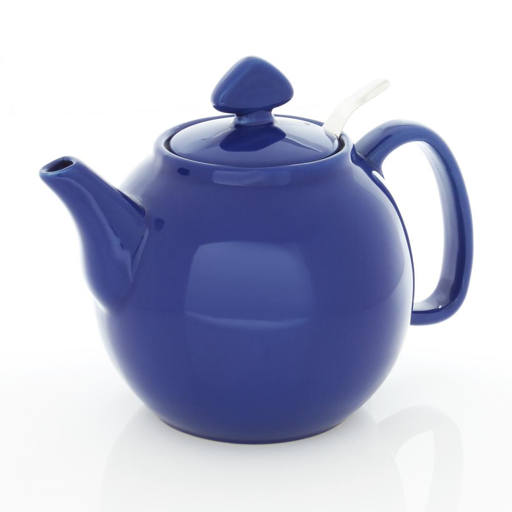 Chantal tea for four 6 cups indigo blue teapot with stainless steel infuser 92 tp13 sli bi the - Chantal teapots ...