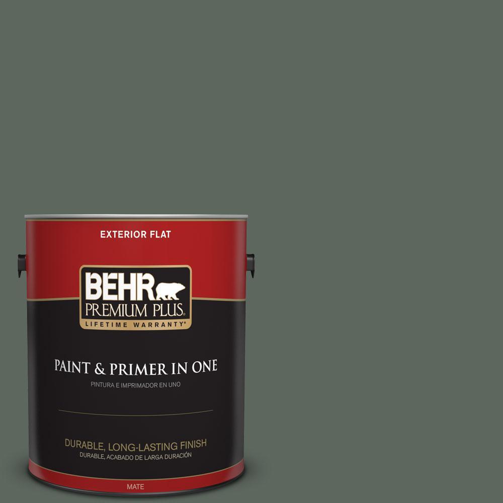 1-gal. #N420-6 Pine Mountain Flat Exterior Paint