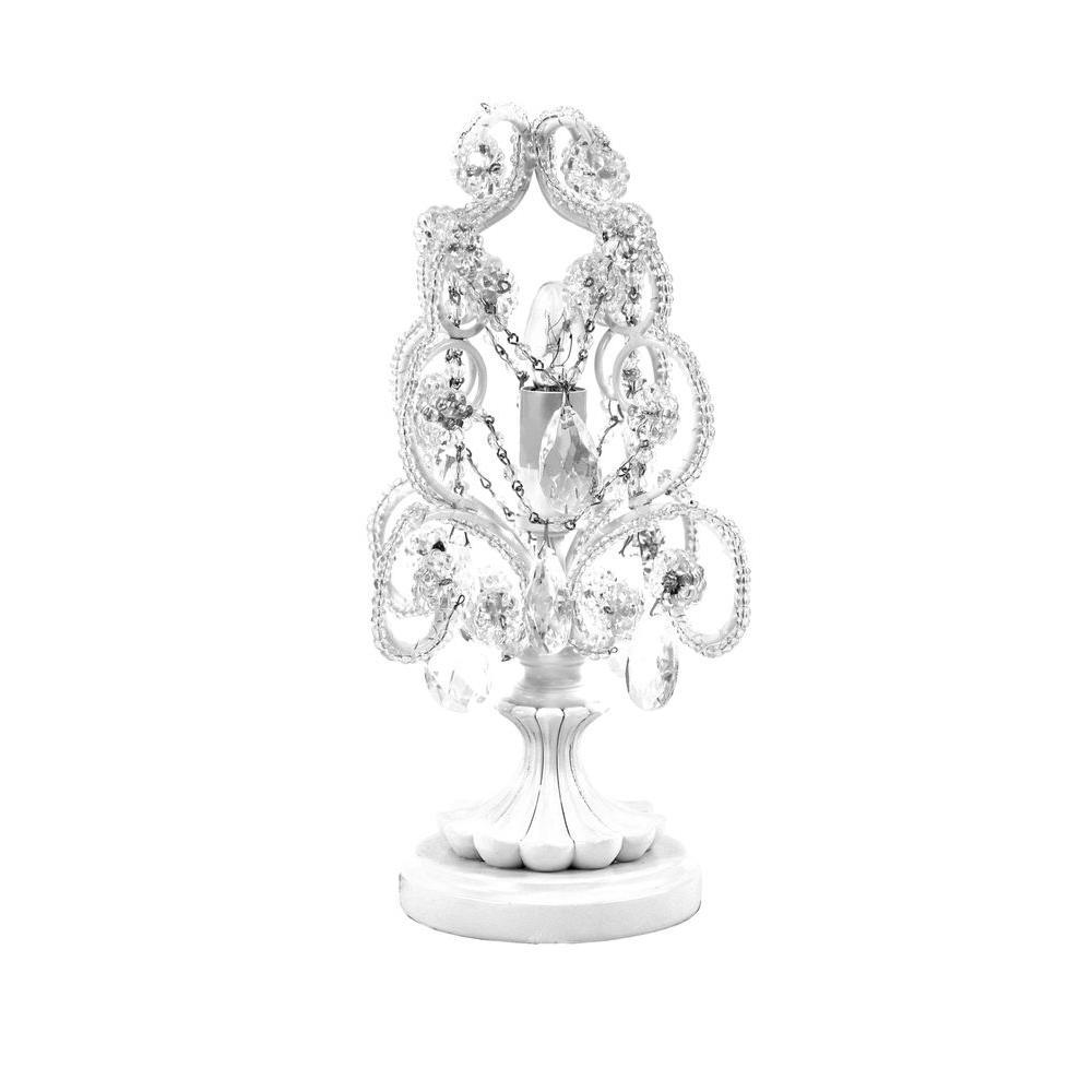 Tadpoles 20 in. White Diamond Chandelier Table Lamp-ctlapl010 ...