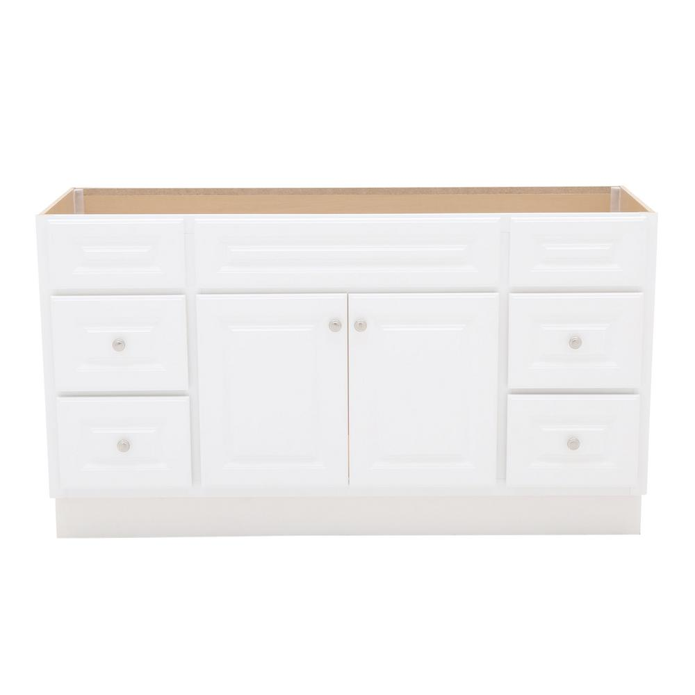 60 Inch Bathroom Vanity Home Depot.Glacier Bay Hampton 60 In W X 21 In D X 33 1 2 In H Bathroom Vanity Cabinet Only In White