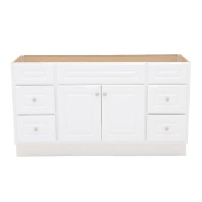 Hampton 60 in. W x 21 in. D x 33-1/2 in. H Bathroom Vanity Cabinet Only in White