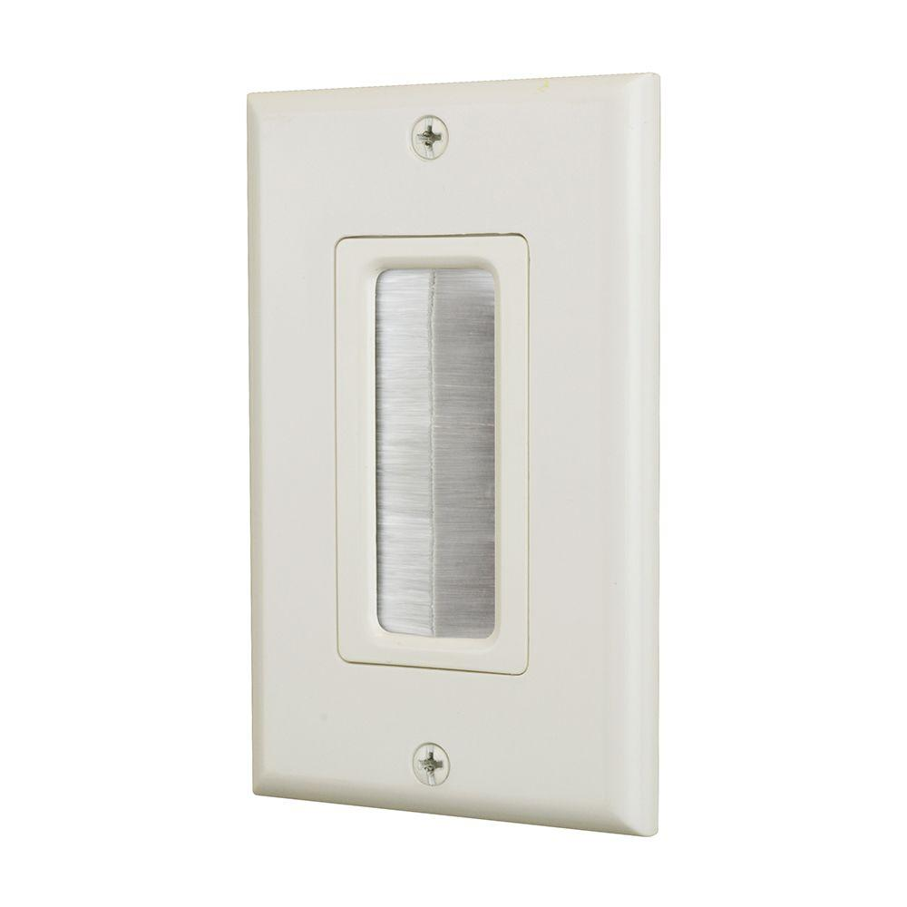 Commercial Electric 1 Gang Brush Plate Light Almond 5038