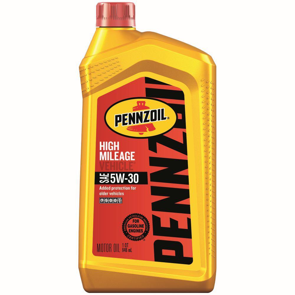 Pennzoil 5W-30 High Mileage Motor Oil - 1 Qt.
