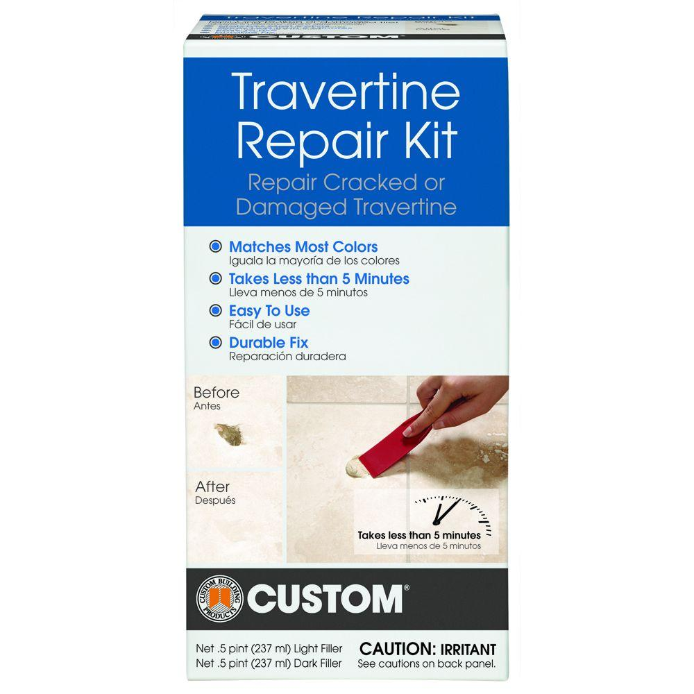 Custom Building Products Travertine Repair Kit Travrk The Home Depot