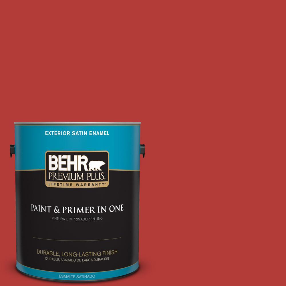 BEHR Premium Plus 1-gal. #PMD-85 Crimson Silk Satin Enamel Exterior Paint