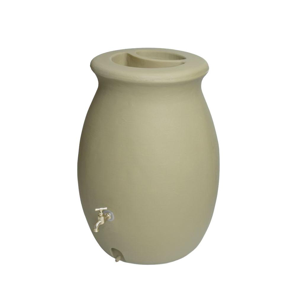 Castilla 50 Gal. Rain Barrel in Sandalwood