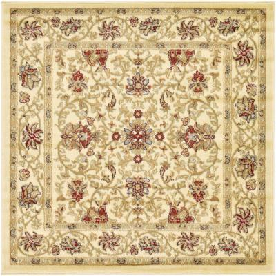 Voyage Lawrence Ivory 4' 0 x 4' 0 Square Rug