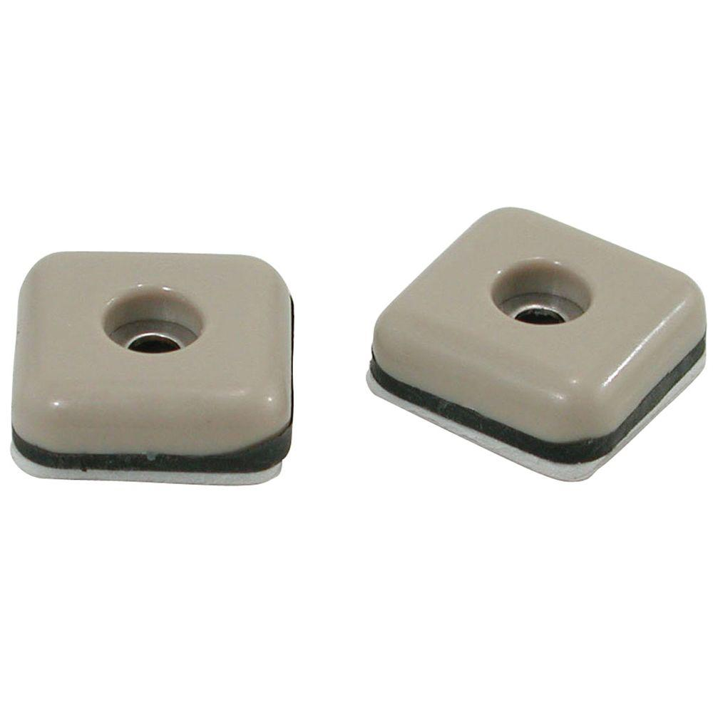 Square Adhesive Furniture Glides (8 Per Pack)