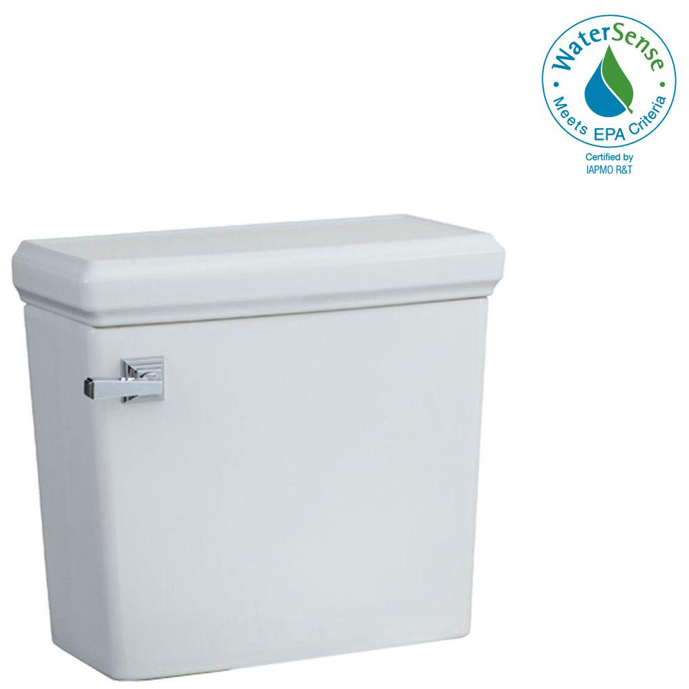 Town Square 1.28 GPF Single Flush Toilet Tank Only in White