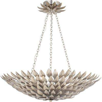 Broche 6-Light Antique Silver Pendant Chandelier