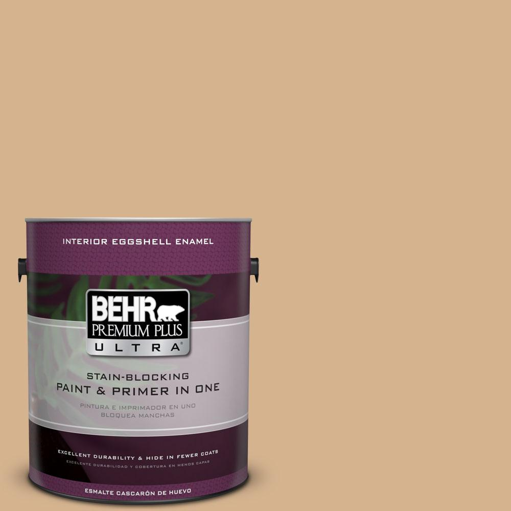 BEHR Premium Plus Ultra Home Decorators Collection 1-gal. #HDC-NT-04 Creme De Caramel Eggshell Enamel Interior Paint