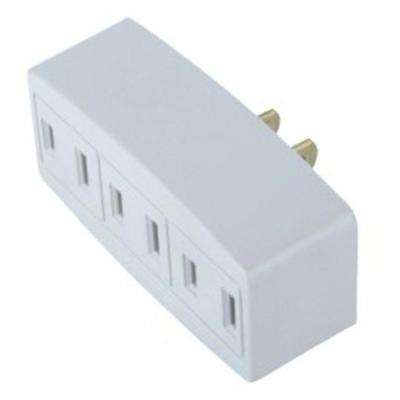 15 Amp Single Triplex Outlet, White