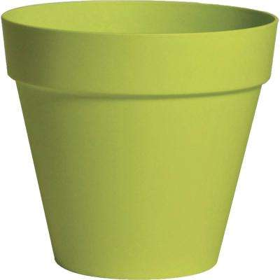 Rio 10.25 in. Dia Green Plastic Planter