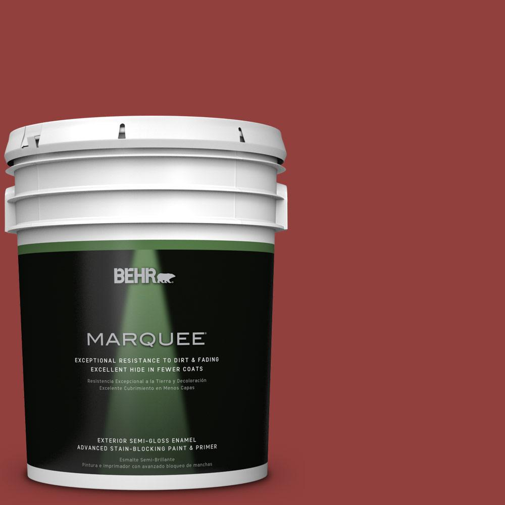 BEHR MARQUEE 5-gal. #BIC-49 Red Red Red Semi-Gloss Enamel Exterior Paint