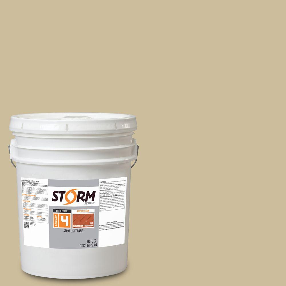 Storm System Category 4 5 gal. Sand Castle Exterior Wood Siding, Fencing and Decking Acrylic Latex Stain with Enduradeck Technology