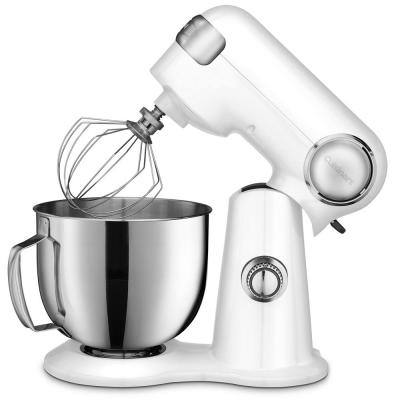 5.5 Qt. 12-Speed White Stand Mixer with Mixing Paddle, Whisk and Dough Hook Attachments