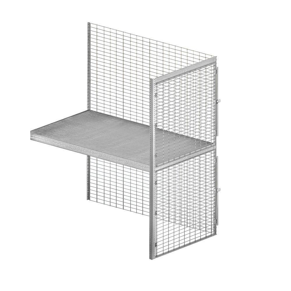 8200 Series 36 in. W x 90 in. H x 60 in. D 2-Tier Bulk Storage Locker with Add-On in Aluminum