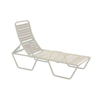 Milan Antique Bisque Commercial Patio Chaise Lounge