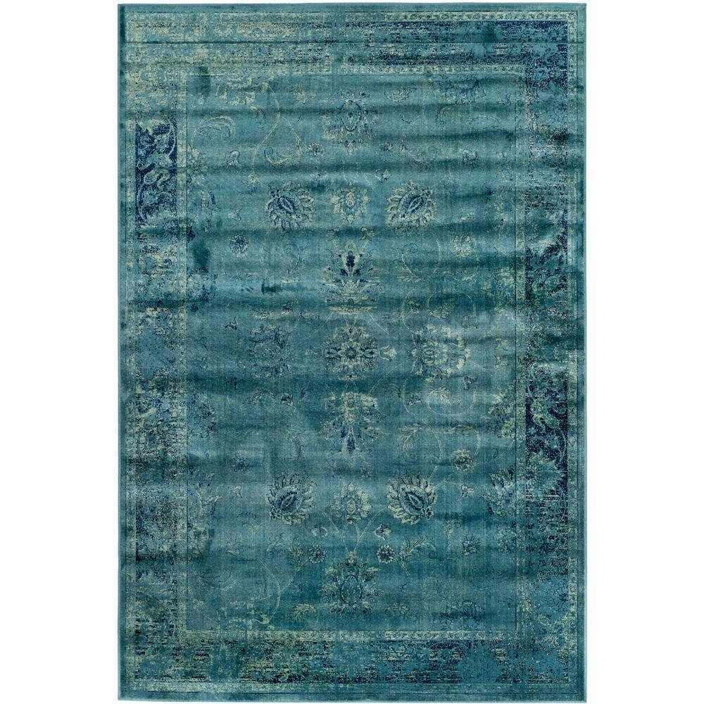 Safavieh Vintage Turquoise/Multi 5 Ft. 3 In. X 7 Ft. 6 In
