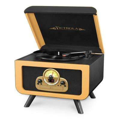 5-in-1 Vintage Tabletop Record Player with Bluetooth and CD Player