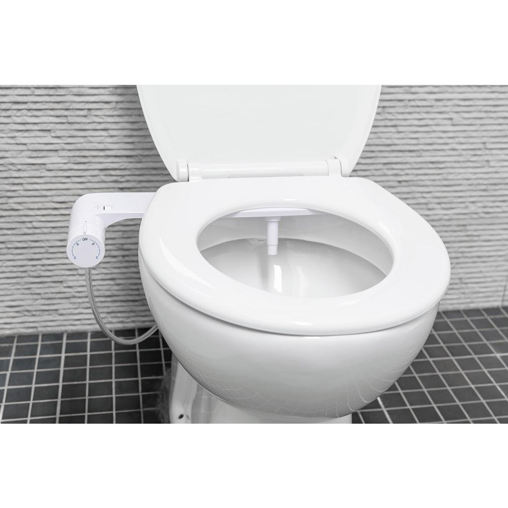 Evekare Non Electric Cold Water Abs Bidet Attachment With Round Panel In White Evk 0449 Icu The Home Depot