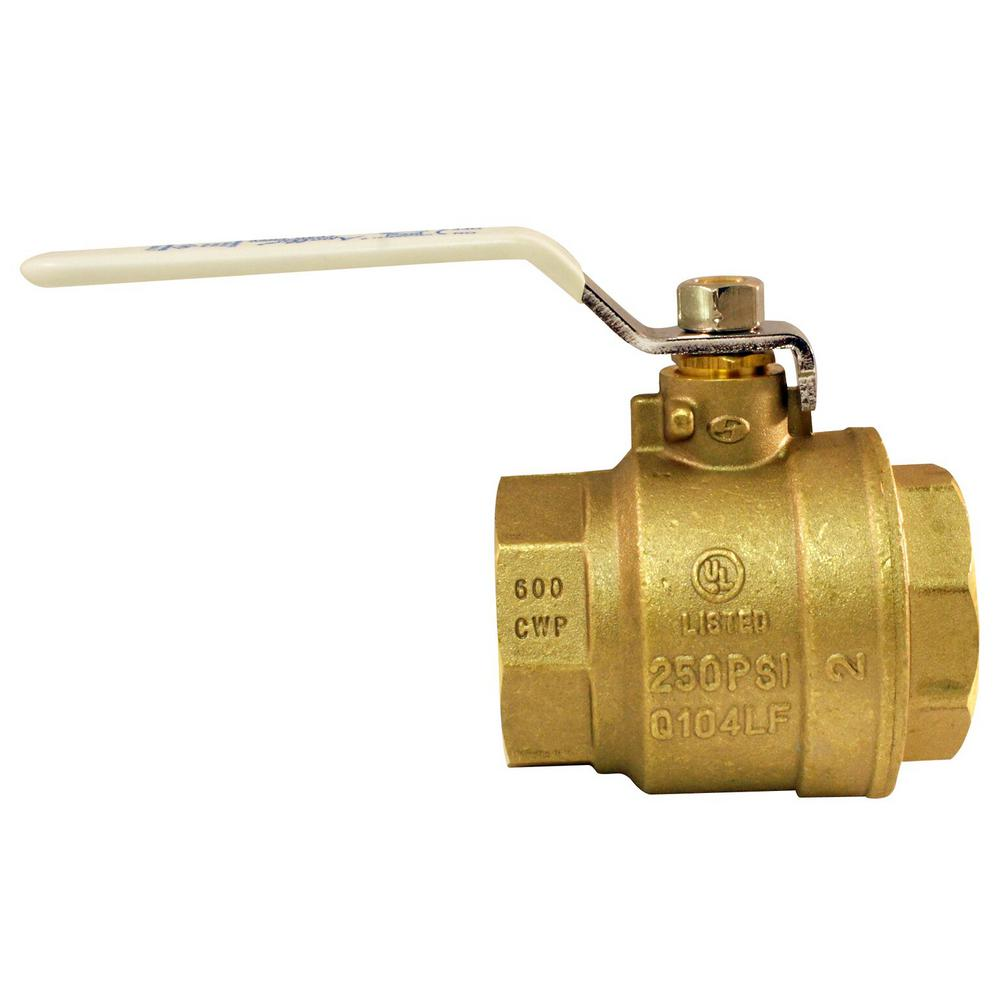 2 in. Lead Free Brass FNPT x FNPT Full-Port Ball Valve