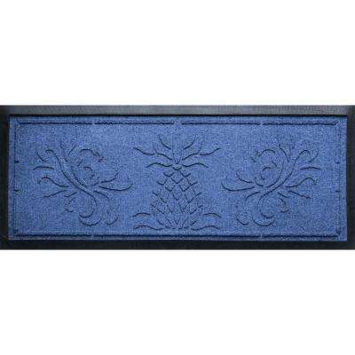 Navy 15 in. x 36 in. x 0.5 in. Pineapple Boot Tray