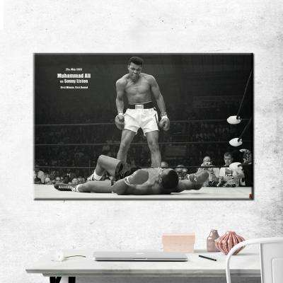 "24 in. x 36 in.""Ali vs. Liston - Landscape"" Printed Canvas Wall Art"
