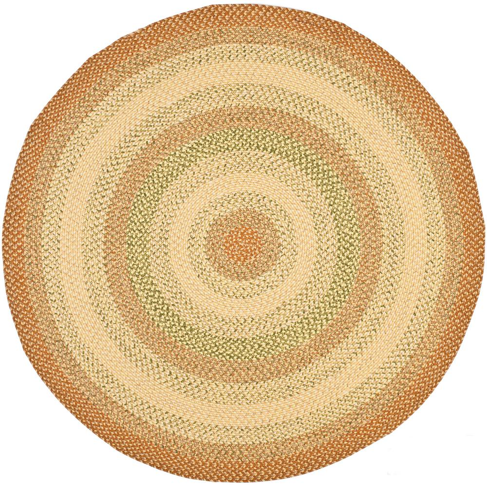 safavieh braided rust multi 4 ft x 4 ft round area rug brd303a 4r the home depot. Black Bedroom Furniture Sets. Home Design Ideas