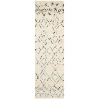 Casablanca Ivory/Gray 2 ft. x 10 ft. Runner Rug