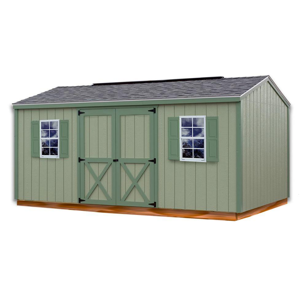 Cypress 16 ft. x 10 ft. Wood Storage Shed Kit with
