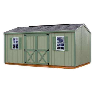 Cypress 16 ft. x 10 ft. Wood Storage Shed Kit with Floor
