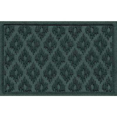 Ikat Evergreen 24 In. X 36 In. Polypropylene Door Mat