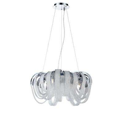 Sage Collection 5-Light Chrome and Clear Chandelier with Crystal Shade