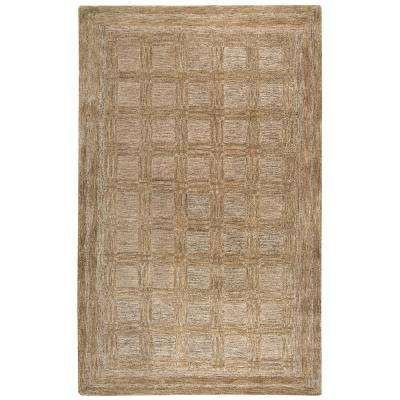 Fifth Avenue Brown 9 ft. x 12 ft. Geometric Area Rug